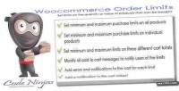 Order woocommerce limits