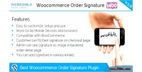 Order woocommerce signature