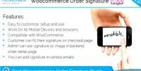 Order woocommerce signature