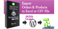 Orders woocommerce export products and