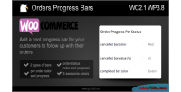 Orders woocommerce progress bars