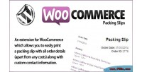 Packing woocommerce slips
