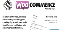 Packing woocommerce slips