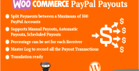 Paypal woocommerce payouts