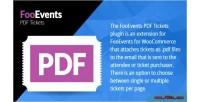 Pdf fooevents tickets plugin