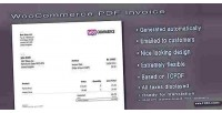 Pdf woocommerce invoice