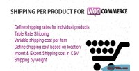 Per shipping woocommerce for product