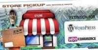 Store pickup google maps wordpress woocommerce