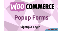 Popup woocommerce forms login signup