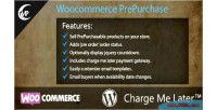 Prepurchase woocommerce