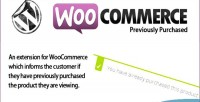 Previously woocommerce purchased
