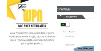 Price notification alert plugin shops woocommerce for price