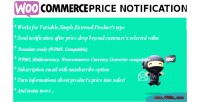 Price woocommerce notification