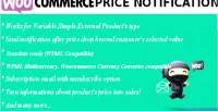 Price woocommerce notification