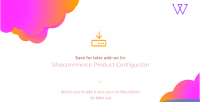 Product visual configurator addon save later for