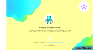 Product visual configurator addon views multiple