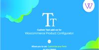 Product visual configurator on custom add text