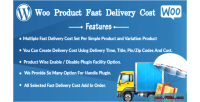 Product woo cost delivery fast