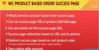 Product woocommerce based page success order