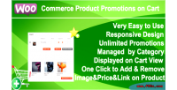 Product woocommerce cart on promotions