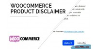 Product woocommerce disclaimer
