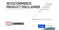 Product woocommerce disclaimer