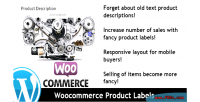 Product woocommerce labels