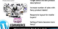 Product woocommerce labels