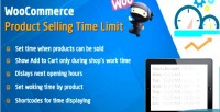 Product woocommerce limit time selling