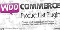 Product woocommerce listing