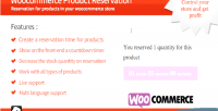 Product woocommerce reservation