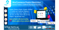 Product woocommerce restrictions dynamic conditional products payme & shipping