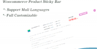 Product woocommerce sticky bar
