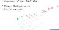 Product woocommerce sticky bar