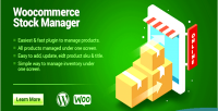 Product woocommerce stock manager