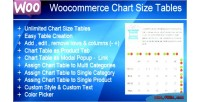 Product woocommerce table sizes chart