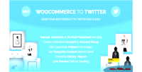 Product woocommerce to twitter