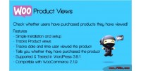 Product woocommerce views