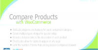 Products compare with woocommerce
