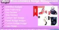 Products woocommerce badge management