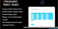 Products woocommerce request manager