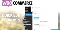 Quick woocommerce edit products