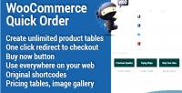 Quick woocommerce order