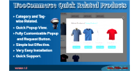 Quick woocommerce related products