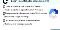 Recaptcha login for woocommerce