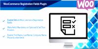 Registration woocommerce plugin fields enable woocommerce default