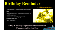 Reminder birthday for woocommerce