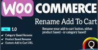 Rename woocommerce cart to add