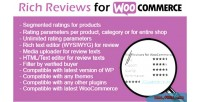 Rich woocommerce reviews
