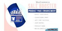 Sale woocommerce booster enhancement page product